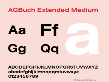 AGBuch Extended Medium 4.0 Font Sample
