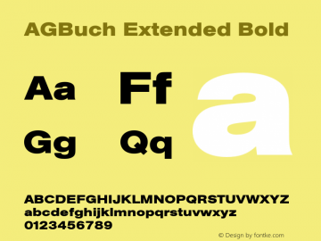 AGBuch Extended Bold 4.0 Font Sample