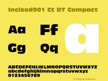 Incised901 Ct BT Compact mfgpctt-v1.53 Friday, January 29, 1993 2:59:36 pm (EST) Font Sample