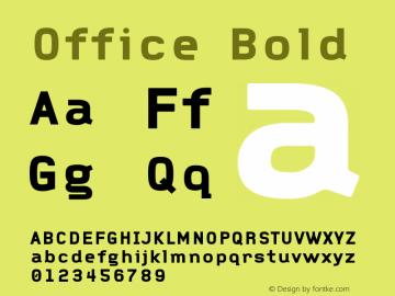 Office Bold 001.000图片样张