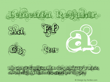 Lementa Regular Version 1.000;PS 001.000;hotconv 1.0.38 Font Sample