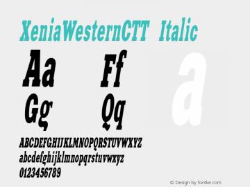 XeniaWesternCTT Italic 1.000.000图片样张