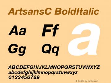 ArtsansC BoldItalic 1.100.000图片样张