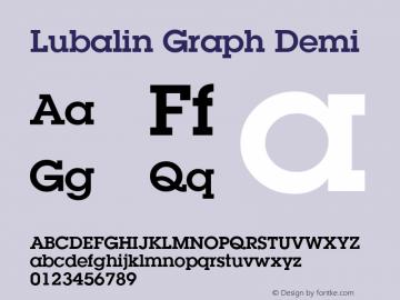 Lubalin Graph Demi 19: 12677: 1999 Font Sample