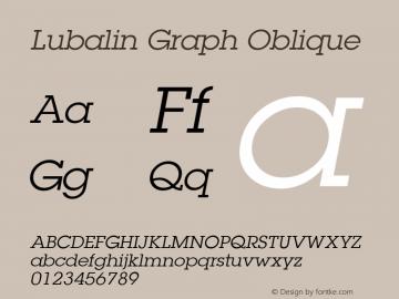 Lubalin Graph Oblique 19: 12623: 1999 Font Sample