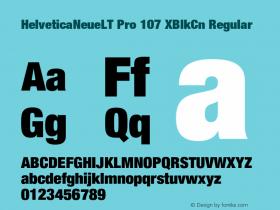 HelveticaNeueLT Pro 107 XBlkCn Regular Version 1.000;PS 001.000;Core 1.0.38 Font Sample