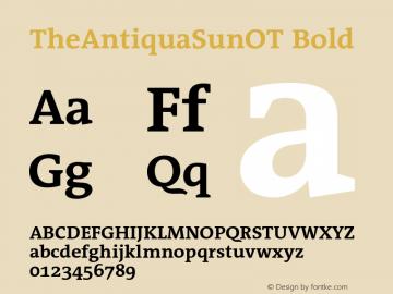 TheAntiquaSunOT Bold Version 2.000 Font Sample