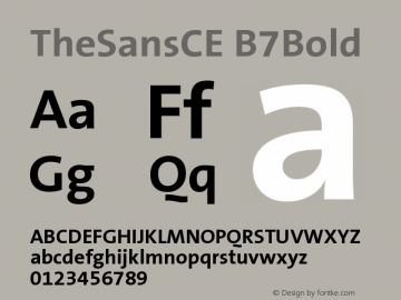 TheSansCE B7Bold Version 001.006 Font Sample
