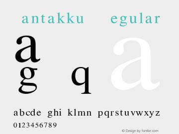 SantakkuM Regular Version 1.001 Font Sample
