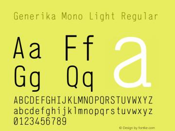 Generika Mono Light Font,Generika Mono Font,GenerikaMono
