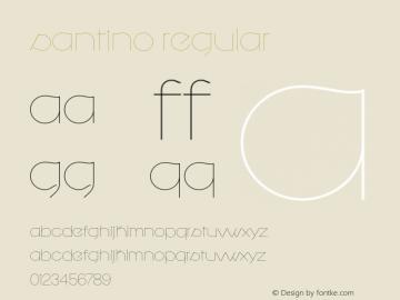 Santino Regular Version 1.000 Font Sample