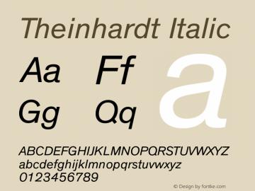 Theinhardt Italic Version 1.000 Font Sample