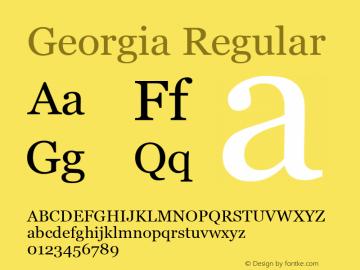 Georgia Regular Version 5.00a图片样张
