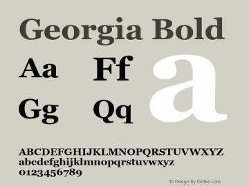 Georgia Bold Version 5.00a图片样张