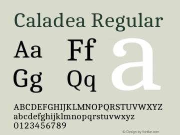 Caladea Regular 1.002图片样张
