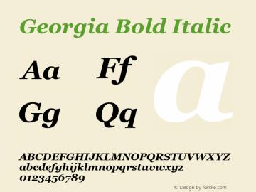 Georgia Bold Italic Version 5.00a图片样张