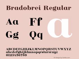 Bradobrei Regular Version 1.000图片样张