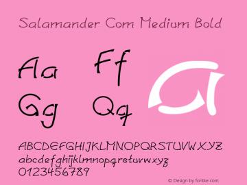 Salamander Com Medium Bold Version 1.30 Font Sample