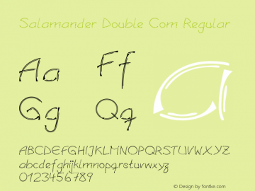 Salamander Double Com Regular Version 1.30 Font Sample