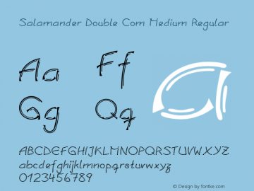 Salamander Double Com Medium Regular Version 1.30 Font Sample