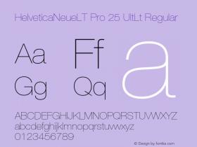 HelveticaNeueLT Pro 25 UltLt Regular Version 1.500;PS 001.005;hotconv 1.0.38 Font Sample