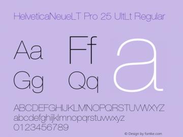 HelveticaNeueLT Pro 25 UltLt Regular Version 1.500;PS 001.005;hotconv 1.0.38图片样张
