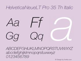 HelveticaNeueLT Pro 35 Th Italic Version 1.500;PS 001.005;hotconv 1.0.38图片样张