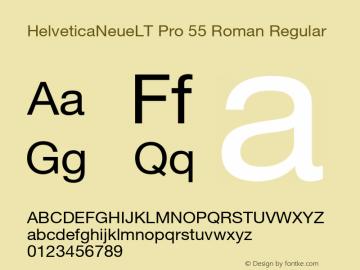 HelveticaNeueLT Pro 55 Roman Regular Version 1.500;PS 001.005;hotconv 1.0.38 Font Sample