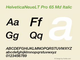HelveticaNeueLT Pro 65 Md Italic Version 1.500;PS 001.005;hotconv 1.0.38 Font Sample