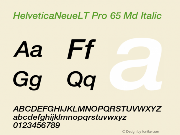 HelveticaNeueLT Pro 65 Md Italic Version 1.500;PS 001.005;hotconv 1.0.38图片样张