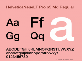 HelveticaNeueLT Pro 65 Md Regular Version 1.500;PS 001.005;hotconv 1.0.38 Font Sample