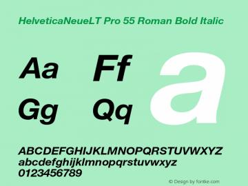 HelveticaNeueLT Pro 55 Roman Bold Italic Version 1.500;PS 001.005;hotconv 1.0.38 Font Sample