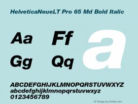 HelveticaNeueLT Pro 65 Md Bold Italic Version 1.500;PS 001.005;hotconv 1.0.38 Font Sample