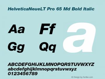 HelveticaNeueLT Pro 65 Md Bold Italic Version 1.500;PS 001.005;hotconv 1.0.38图片样张
