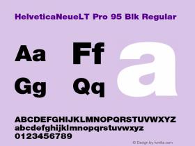 HelveticaNeueLT Pro 95 Blk Regular Version 1.500;PS 001.005;hotconv 1.0.38图片样张