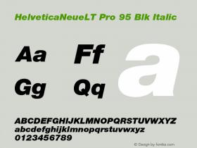 HelveticaNeueLT Pro 95 Blk Italic Version 1.500;PS 001.005;hotconv 1.0.38图片样张