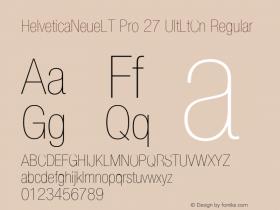 HelveticaNeueLT Pro 27 UltLtCn Regular Version 1.500;PS 001.005;hotconv 1.0.38 Font Sample
