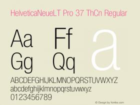 HelveticaNeueLT Pro 37 ThCn Regular Version 1.500;PS 001.005;hotconv 1.0.38 Font Sample