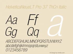 HelveticaNeueLT Pro 37 ThCn Italic Version 1.500;PS 001.005;hotconv 1.0.38 Font Sample