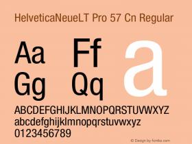 HelveticaNeueLT Pro 57 Cn Regular Version 1.500;PS 001.005;hotconv 1.0.38 Font Sample