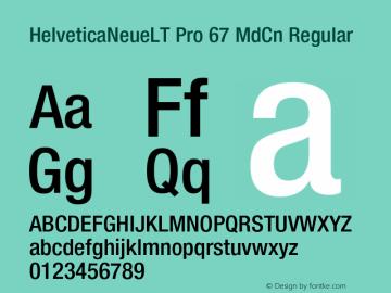 HelveticaNeueLT Pro 67 MdCn Regular Version 1.500;PS 001.005;hotconv 1.0.38图片样张