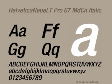 HelveticaNeueLT Pro 67 MdCn Italic Version 1.500;PS 001.005;hotconv 1.0.38图片样张