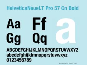 HelveticaNeueLT Pro 57 Cn Bold Version 1.500;PS 001.005;hotconv 1.0.38 Font Sample