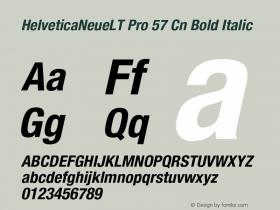HelveticaNeueLT Pro 57 Cn Bold Italic Version 1.500;PS 001.005;hotconv 1.0.38 Font Sample