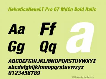 HelveticaNeueLT Pro 67 MdCn Bold Italic Version 1.500;PS 001.005;hotconv 1.0.38图片样张