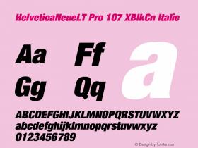 HelveticaNeueLT Pro 107 XBlkCn Italic Version 1.500;PS 001.005;hotconv 1.0.38 Font Sample