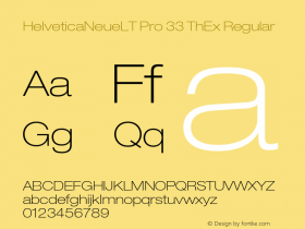 HelveticaNeueLT Pro 33 ThEx Regular Version 1.500;PS 001.005;hotconv 1.0.38 Font Sample
