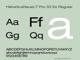 HelveticaNeueLT Pro 53 Ex Regular Version 1.500;PS 001.005;hotconv 1.0.38图片样张