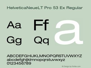 HelveticaNeueLT Pro 53 Ex Regular Version 1.500;PS 001.005;hotconv 1.0.38 Font Sample