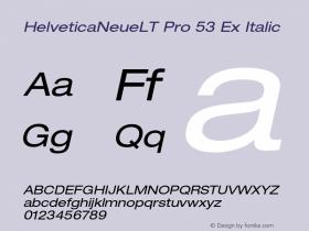 HelveticaNeueLT Pro 53 Ex Italic Version 1.500;PS 001.005;hotconv 1.0.38图片样张